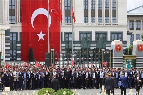مراسم گرامی داشت کودتای سال 2016 در مجتمع ریاست جمهوری ترکیه
