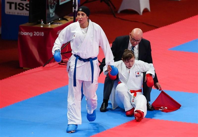 کاراته قهرمانی آسیا، پیروزی نزدیک تیم کومیته تیمی بانوان مقابل ازبکستان