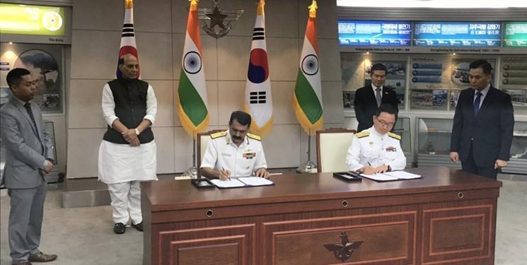 هند و کره جنوبی معاهده همکاری نظامی امضا کردند