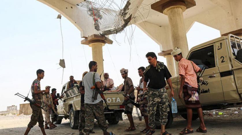 خبرنگاران درگیری نیروهای وابسته به عربستان با گروه تحت حمایت امارات در یمن
